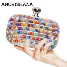 ANOVISHANA Crystal Day Clutch Party Bag Ladies Bag Evening Bag Purse Party Banquet Bag Women Diamond Rhinestone Clutch small 112