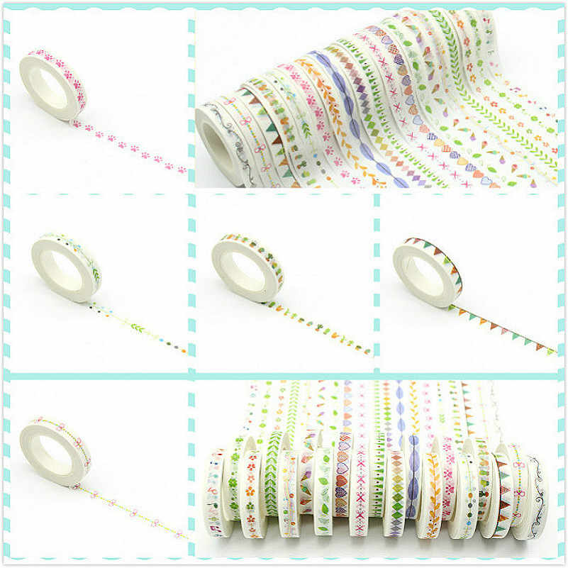 1pc Adhesive Tape Stationery Stickers Decoration Student sticker Masking Tape Self Scrapbook Tape Washi Tape