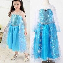 Blue Girls Dress Kid Girls Cartoon Costumes Halloween Princess Dress Halloween Cosplay Formal Fancy Dress 2