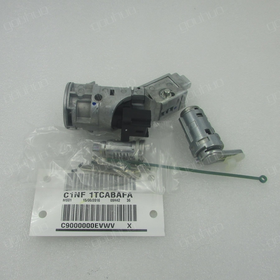 for Peugeot 307 a full lock without a remote control with key blanks ignition lock door lock cylinder peugeot 307 1 6 hdi
