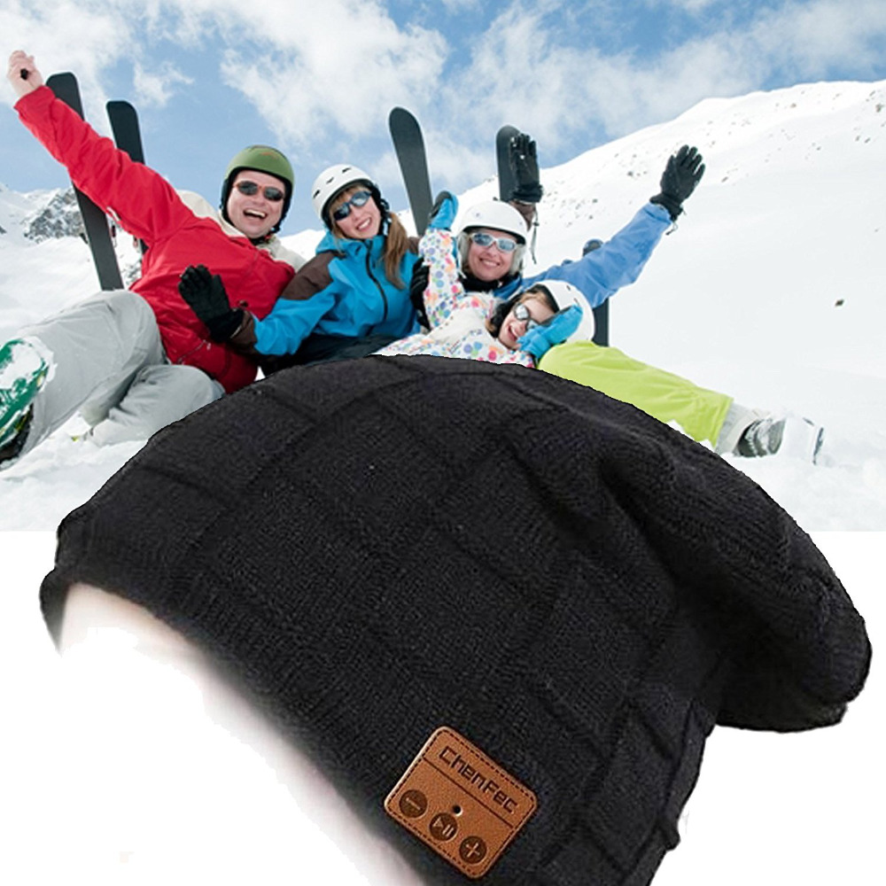 Wireless Bluetooth headphones Music Hat Smart Caps Headset Earphone Warm Beanies Winter Hat with Speaker Mic, Christmas gift practical outdoor sports bluetooth headphones speaker mic winter warm knitted beanie hat