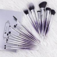 17 PCS Cosmetic Refresh Suits Combined Brushes For Makeup Eyeshadow Powder Eyebrow Foundation Synthetic Hair Cosmetic Tools