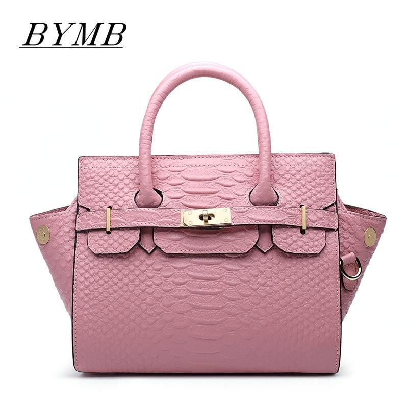 New High-end Handbag Female 100% Genuine Leather Platinum Baotou Layer Of Cow Skin Snake Grain On The Shoulder Bag Female