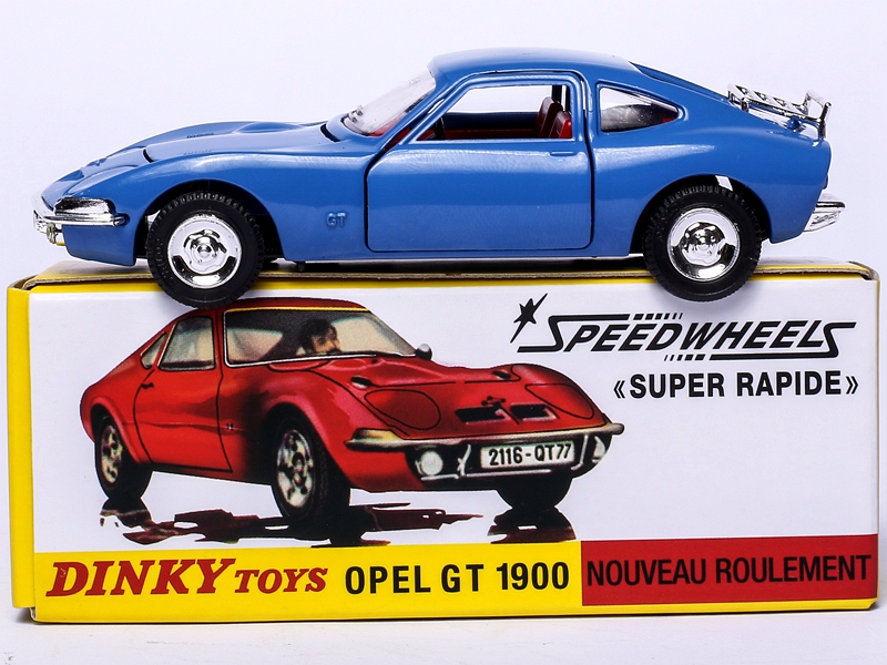 Купить с кэшбэком Dinky Toys Atlas 1421 1/43 OPEL GT 1900 SPEEDWHEELS Alloy Diecast Car Model Toys