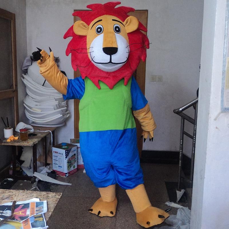 Hot Sale Adult Blue Lion Mascot Costume Tiger Fur Mascot Costumes