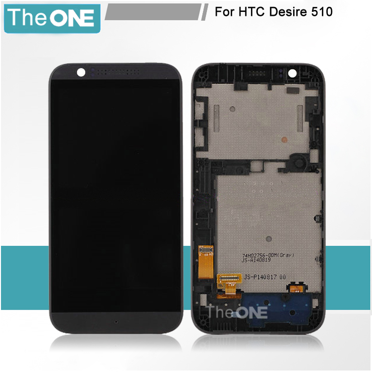 Free DHL For HTC Desire 510 D510 FULL Touch Screen Digitizer LCD Display Panel Assembly With Frame Replacement lcd screen display touch panel digitizer with frame for htc one m9 black or silver or gold free shipping