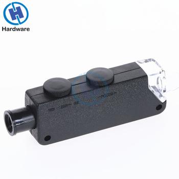 THGS przenośny 60x do 100x zoom led mikroskop lupa kieszonkowa lupa lupa tanie i dobre opinie OLOEY 500X-1500X Monokularowy Z tworzywa sztucznego SZ-EWS-I007160 Illuminated Microscope