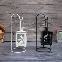 2 Farben Eisen Marokkanischen Stil Leuchter Kerzenhalter Kerzenständer Licht Halter Laterne Geschenk Handwerk Dekoration