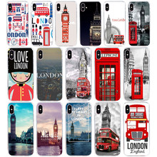 155SD London big ben Bus gift Soft Silicone Tpu Cover phone Case for iphone 5 5s se X XR XS Max case(China)