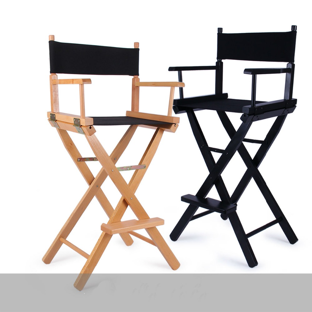 Portable makeup chair - Folding Aluminum Director Chair Portable Makeup Chair Wood Chair Black And Wood Colors China