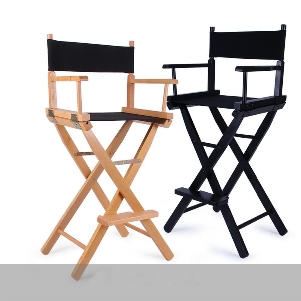 US $306.0 |Składany aluminiowy fotel reżysera przenośne akcesoria do makijażu krzesło drewniane krzesło czarne i drewniane kolory|makeup chair|chair
