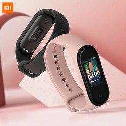 In Magazzino Xiao mi mi fascia 4 Originale 2019 Nuova musica Smart Mi Fascia 4 braccialetto frequenza cardiaca Fitness 135mAh di Colore Dello Schermo di Bluetooth 5.0