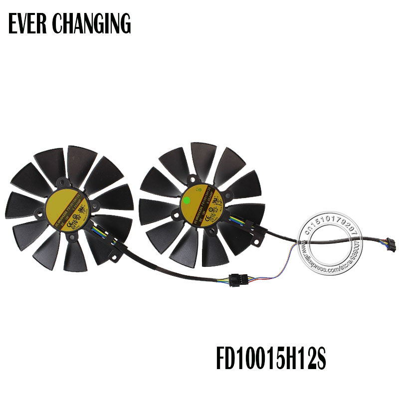 Free Shipping FD10015H12S 12V 0.55A 95mm VGA Fan For ASUS GTX780 GTX780TI R9 280 290 280X 290X 380 Graphics Card Cooling Fan