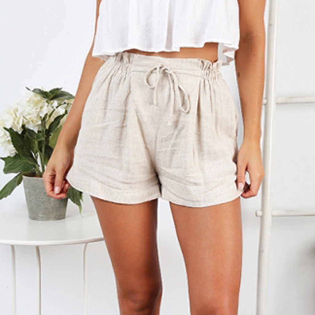 Women's Clothing Systematic Fashion Women Lady Sexy Shorts Summer Casual Shorts High Waist Short Pants Withe Pocket Beach Bow Shorts Trousers Hot Pants 5 Bottoms