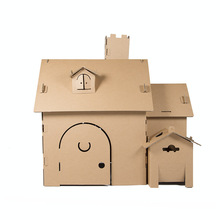 DIY Game Tent House For Children Play Creative Intelligence Gift Hand Work Models Building