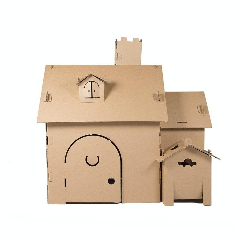 DIY Jeu Tente Maison Pour Enfants Jouer L'intelligence Créatrice Cadeau Main Travail Modèles Bâtiment
