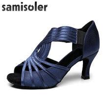 Samisoler/Женская обувь для латинских танцев со стразами; Танцевальная