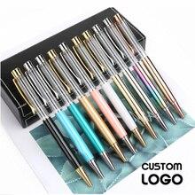 10 יח\חבילה אישית חקוק כדורי עט Creative DIY בעבודת יד כדורי עטי לוגו מתכת ריק עט חתונה מתנות