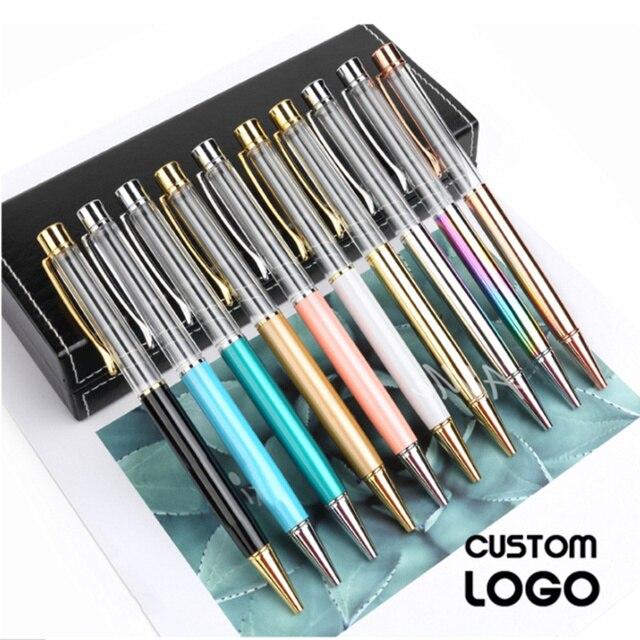 10 adet/grup Kişiselleştirilmiş Kazınmış Tükenmez Kalem Yaratıcı DIY El Yapımı Tükenmez Kalemler Özel Logo Metal Boş Kalem Düğün Hediyeleri