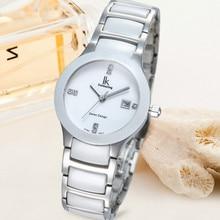 Women watches Push Button Hidden Clasp Quartz watch Casual Lady's Dress Wristwatches Ceramic C With Gift Box