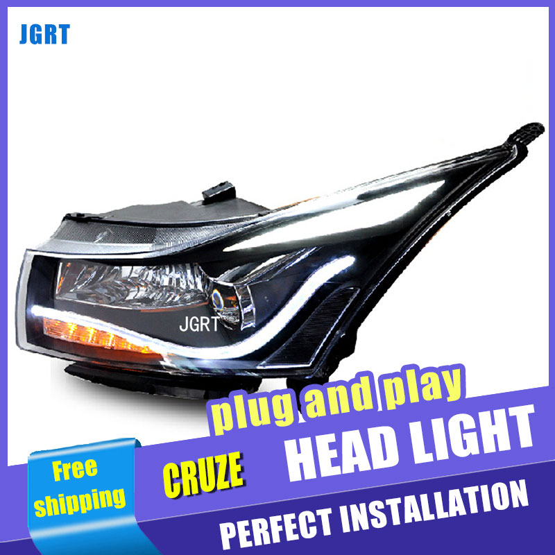 Car styling LED Head Lamp for Chevrolet Cruze led headlights 2009-2014 A8 drl H7 hid Bi-Xenon Lens angel eye low beam