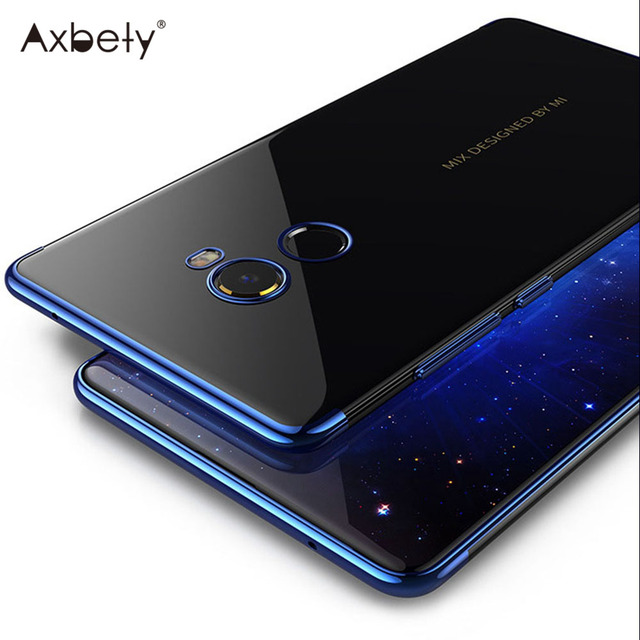 finest selection 57cfa eb9c8 US $1.99 |Axbety Luxury Chrome Case For Xiaomi Mi Mix 2 Transparent Ultra  Slim Silicone Cases For Mi Mix2 Crystal Clear Gold Phone Cover-in Fitted ...