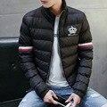 Jaqueta dos homens novos de Inverno Casacos Quentes de Espessura Sólida Moda Térmico Dos Homens Jaquetas Casuais Masculino de Algodão Para Baixo Parkas de Roupas de Marca LA120