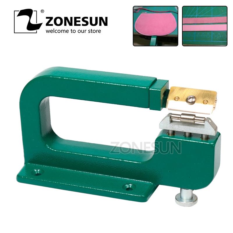 все цены на ZONESUN Handmade Leather Edge Strips Strap Skiving Cutting Processing Splitting Machine Peel Tool