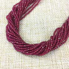 Маленькие рубиновые бусина, натуральный камень, лицевые черные спинальные сапфиры 2 3 мм сечение свободные бусины для изготовления ювелирных изделий ожерелье DIY браслет
