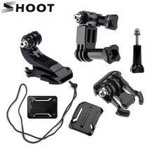Стрелять Действие Камера Интимные аксессуары набор для GoPro Hero 5 3 4 Xiaomi Yi 4 К SJCAM SJ4000 нагрудный ремень База крепление Go Pro Шлем Наборы