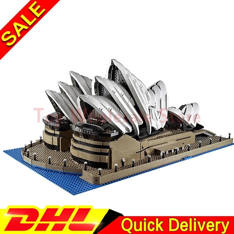 LEPIN 17003 2989Pcs City Sydney Opera House Model Building Kits Blocks Bricks lepins Toys Gift Clone 10234 new lepin 22001 pirate ship imperial warships model building kits block briks toys gift 1717pcs