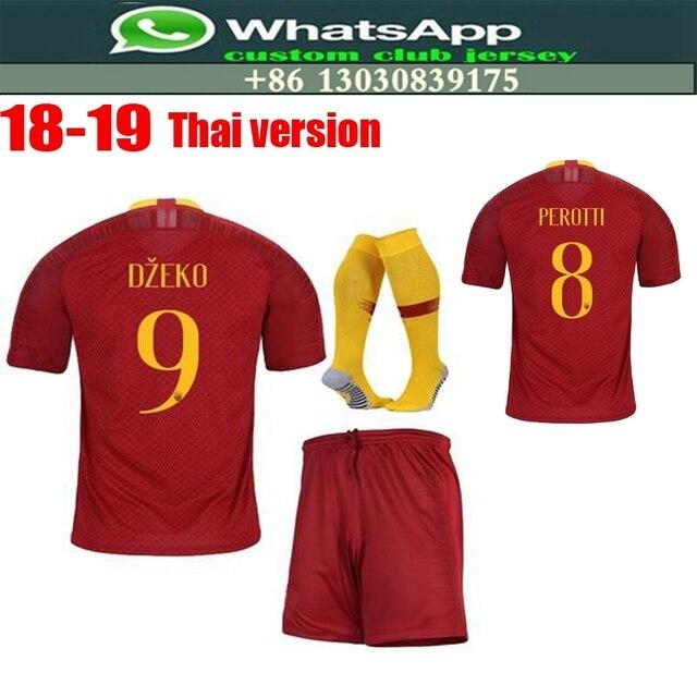bc9b275d2 2018 2019 Optimum quality Romes Adlut Sets soccer Jerseys camisetas shirt  survetement man Romas Football shirt. Free shipping