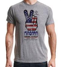 Drag Racing Americana Niagara Falls Vintage Peace Design 1970's Grey T-Shirt  Harajuku Tops t shirt Fashion Classic Unique gipsy kings niagara falls