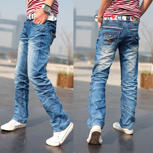 Free Shipping Men's jeans /fashion and slim fit classic Trousers ...