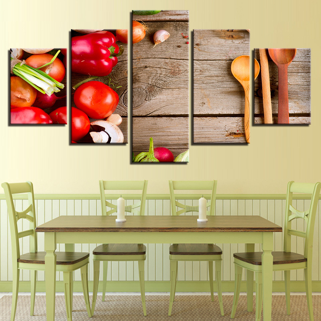 Canvas HD Modern Living Room Home Decoration Printed Pictures 5 ...