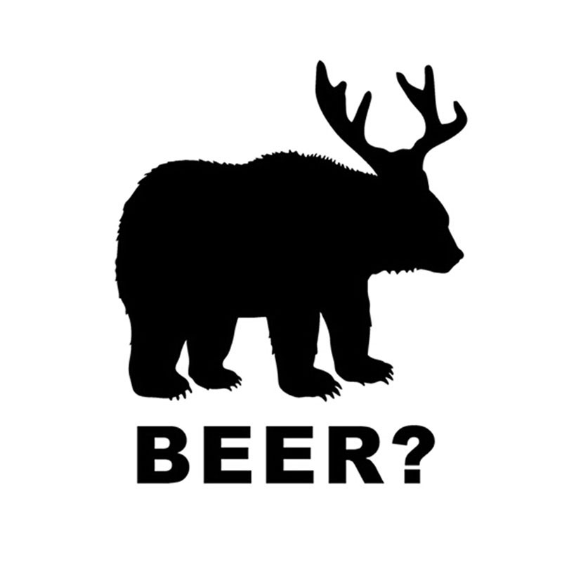 Car -covers 12.5*15CM Bear+Deer=Beer? Hunting Car Stickers Motorcycle Decals Car Styling Jdm ...