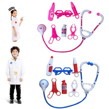 Simulated Pretend Doctor Kit Toys Plastic Medical Tools Doctor Nurses Role Play Set for Kids Hospital Pretend Play Education Toy(China)