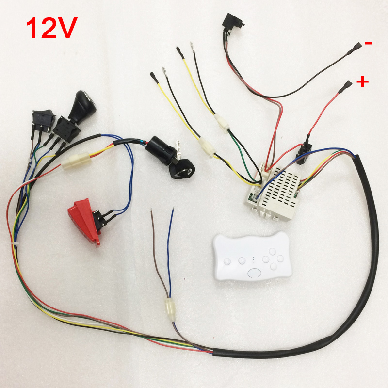 children electric car diy kit wires switch and smooth