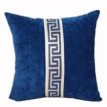 High end Обычная Лоскутная геометрический диван кресло подушка бархатной ткани Декоративные поясничной подушки спинки 45x45 см 50x50 см 60x60 см