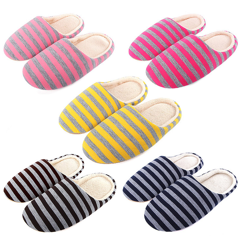 FMZXG Men Casual Sneakers For Home Slippers Winter Striped Soft Floor Man Indoor Flats Shoes Warm Plush Cotton Slipper Terlik autumn winter coral velvet slipper housewarming soft slippers home indoor cotton striped floor plush shoes drop shipping
