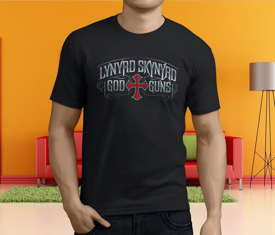 New Popular Free Bird Lynyrd Skynyrd Men S Black T Shirt Size S 4Xl