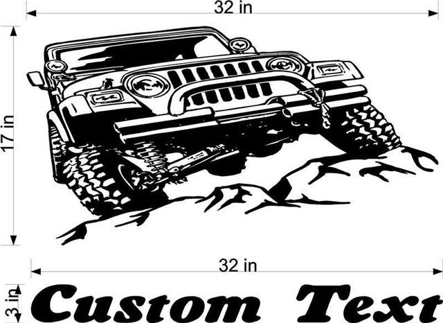 Jeep batu mobil balap vinyl dinding decal sticker art man cave decor laki laki ruang