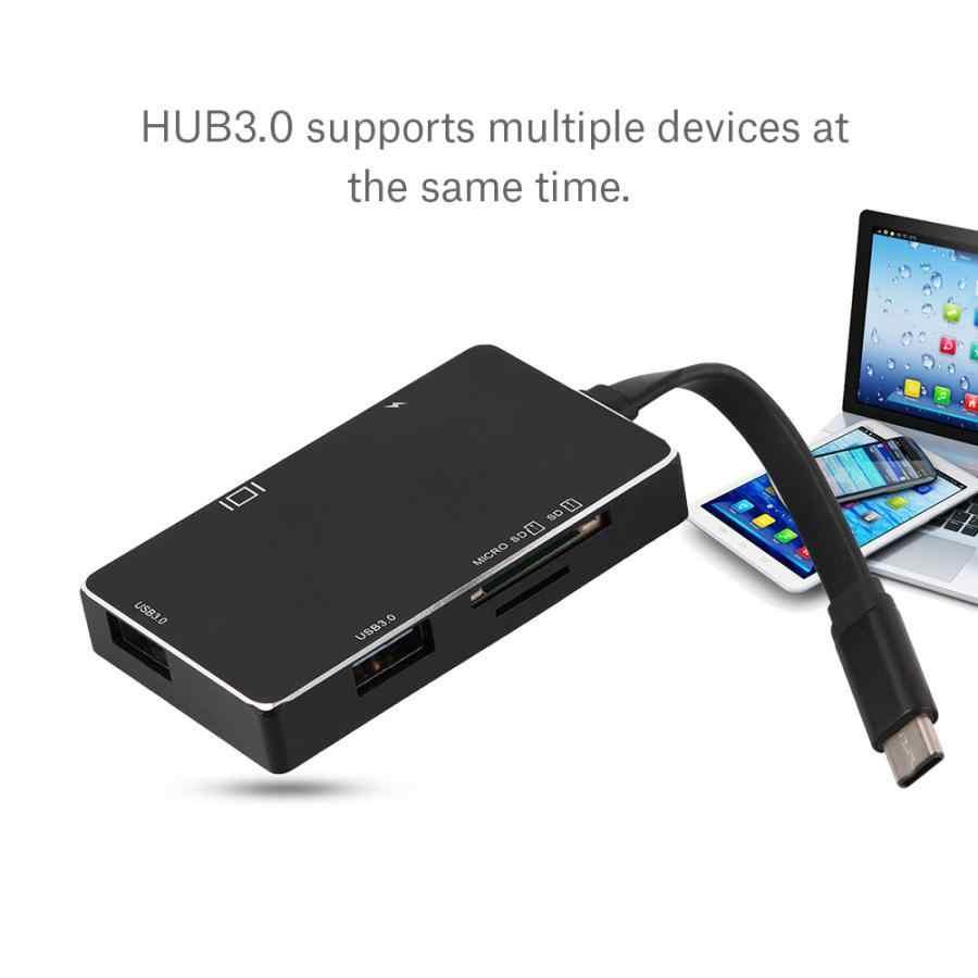 عالية الجودة نوع-C إلى 4 K HDMI PD تهمة مهايئ توزيع USB-C 3.1 محول SD/TF قارئ بطاقات ل ماك بوك