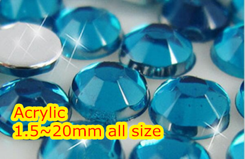 Blue Zircon Color 1.5~12mm Flat Back Round Acrylic rhinestone,Acrylic Resin 3D Nail Art / Garment Rhinestone blue zircon color 1 5 12mm flat back round acrylic rhinestone acrylic resin 3d nail art garment rhinestone