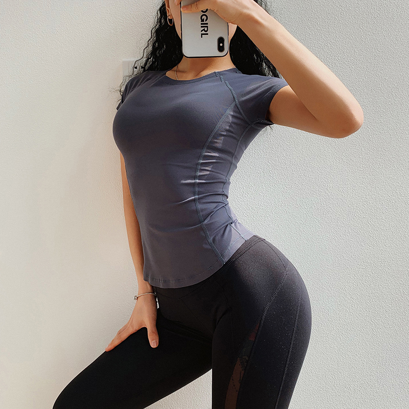 Seamless Wome's Short Yoga Tights Running Fitness Cropped Exercise Pants