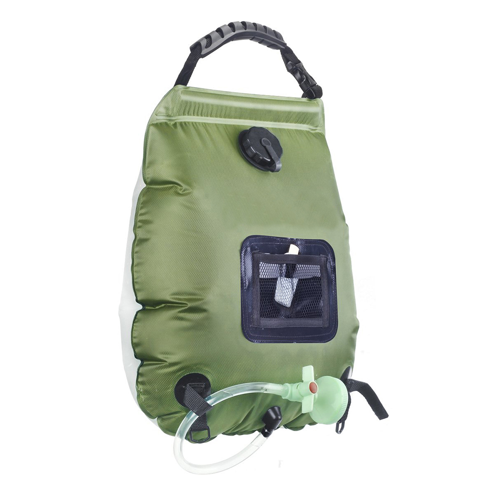 2020 Water Bags For Outdoor Solar Hiking Camping Shower Bag 20L Heating Camping Shower Hydration Bag Hose Switchable Shower Head 1