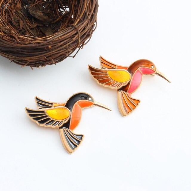 1 Pce Trâm Cài Động Vật Phim Hoạt Hình Huy Hiệu Men Pin Birds Brooch Cho Phụ Nữ Phụ Nữ Cổ Điển Phụ Kiện Thời Trang Trang Trí Áo Len Pins