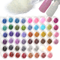 60 Colores Glitter Polvo Del Polvo de Uñas de Acrílico 3d Polaco del Gel Shinning Brillante Diseños para las Decoraciones de Uñas BRICOLAJE Uñas Pigmento NJ151