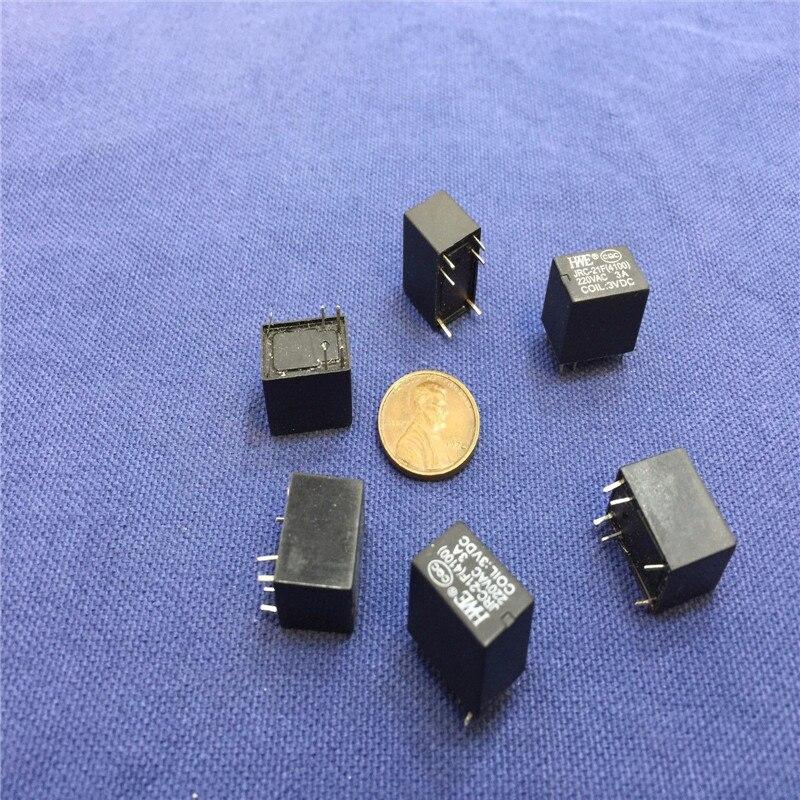 20 Pieces Miniature PCB Relay JRC-21F 4100 DC 3V 6 Pins
