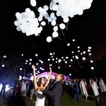 Ballons blancs avec Flash à Led de 12 pouces, 50 pièces/lot, fournitures de fête danniversaire et de mariage, vente en gros, Flash à LED, 50 pièces/lot, tendance